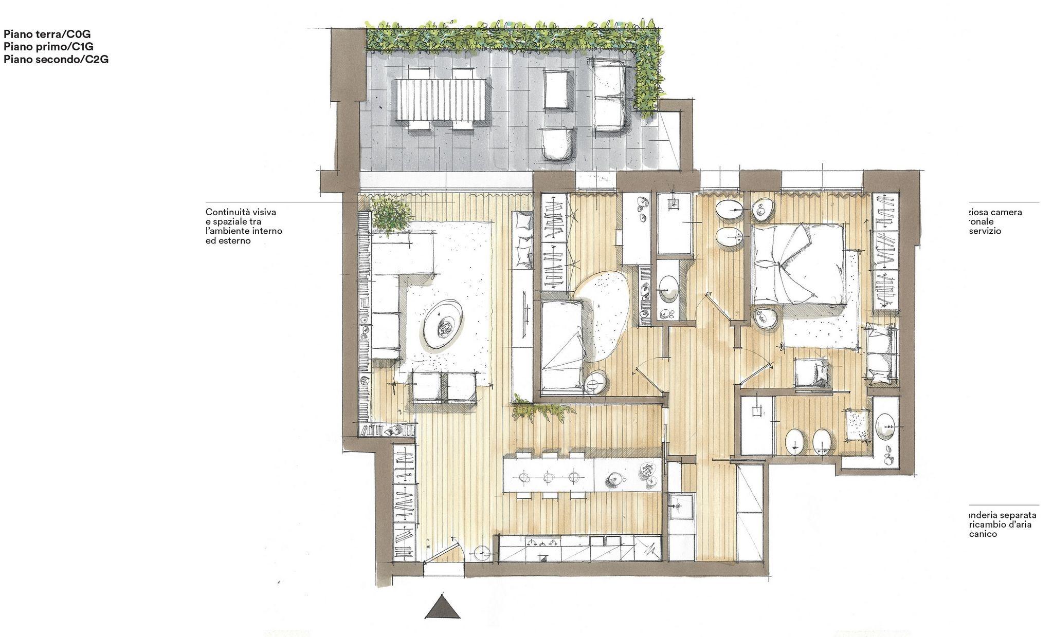 Ca 39 del parco proposta immobiliare cazzaro costruzioni for Piani di camera di lavanderia